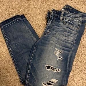 American eagle high rise jegging crop size 8